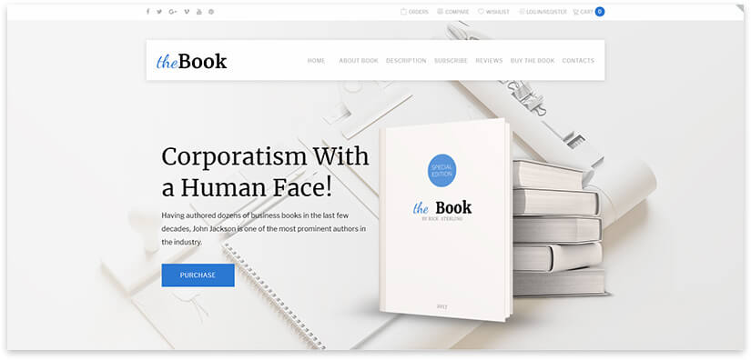 15 library site templates, about books, writer on WordPress 2020