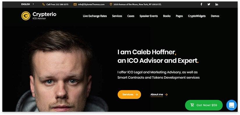 Blockchain Consultant Website