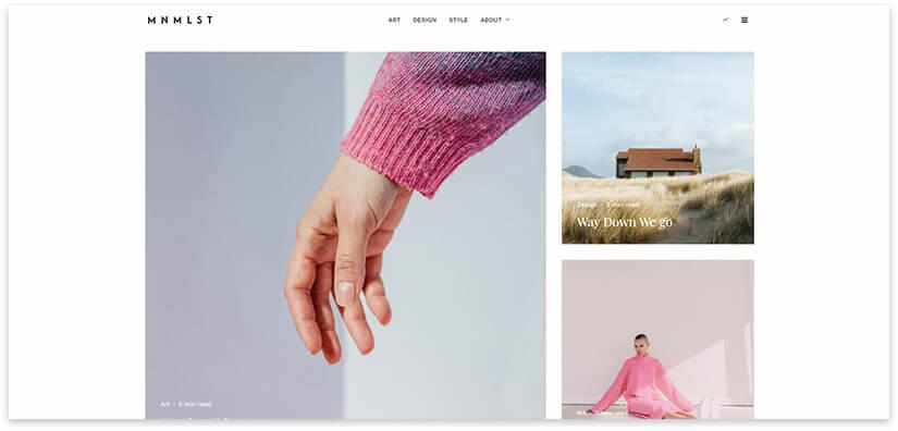 минималистичный блог