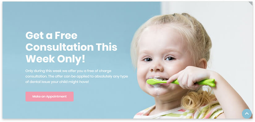 pediatric dentistry website template