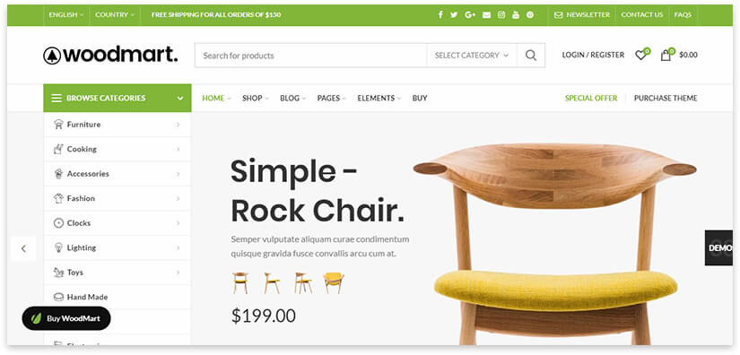 online store of wooden products