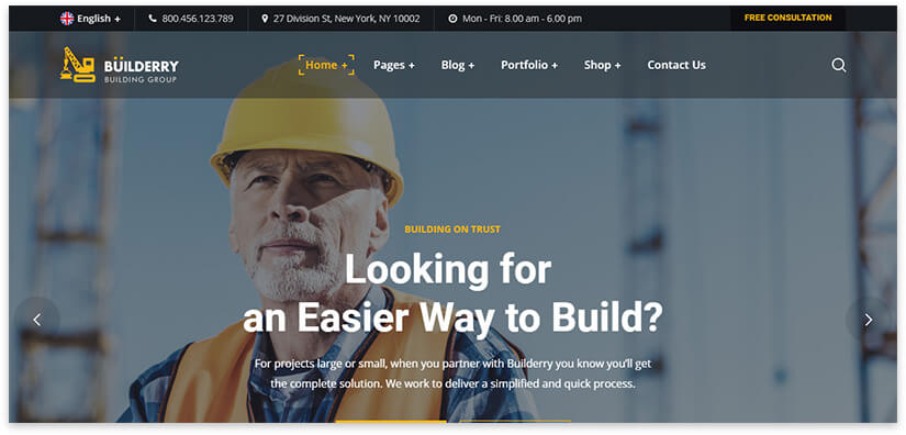 building wordpress template