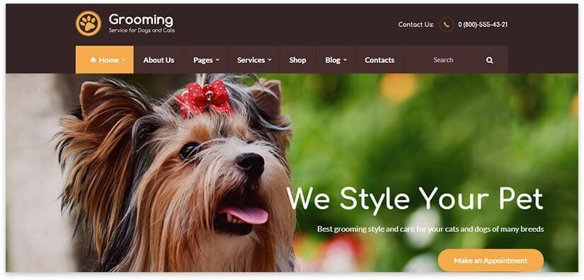 animal grooming site