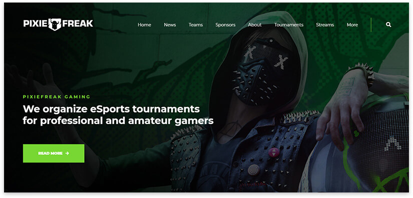 game blog template screenshot