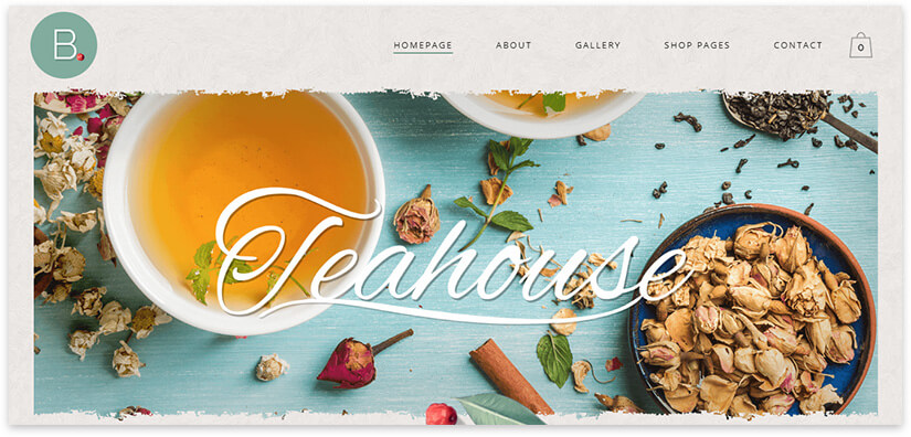 tea shop website theme