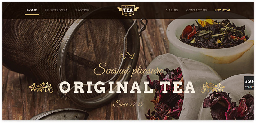 tea site template