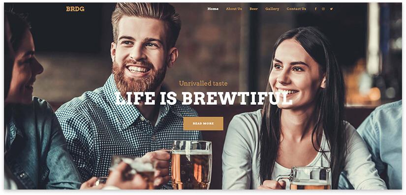 Lounge bar website template