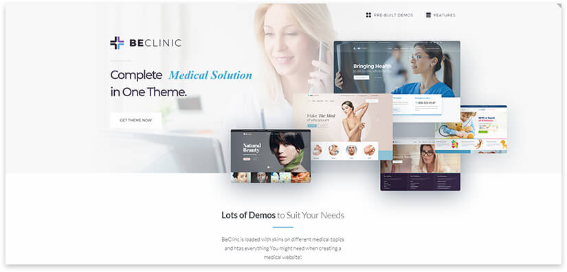 template for the clinic website