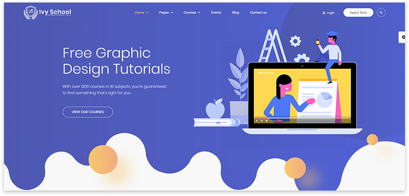 educational site theme