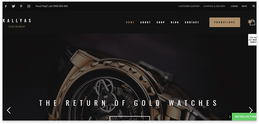 Watch Store Website Template
