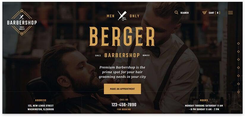 business card barbershop