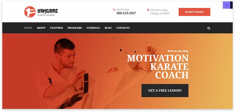 karate school website