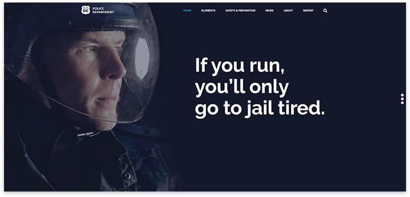 police website template