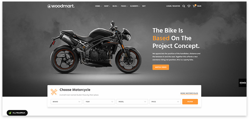 sale of motorcycle spare parts