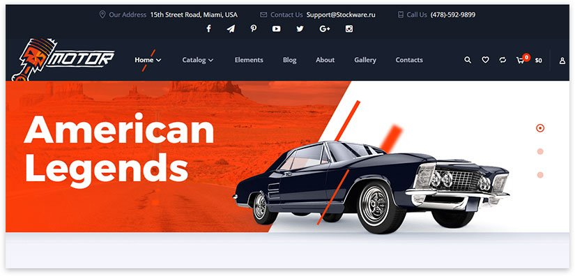 auto parts store template