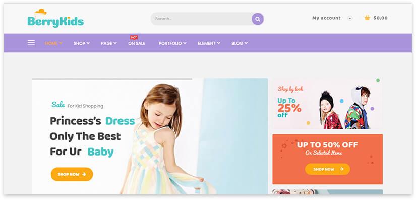online shop of children's goods