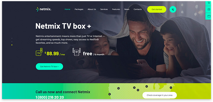 tv box theme wordpress