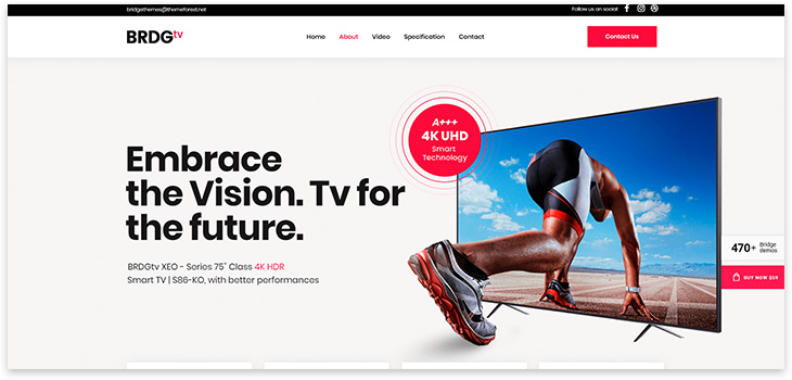 Universal website template
