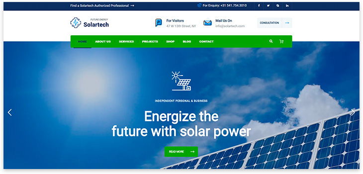 Wordpress Alternative Energy Website Template