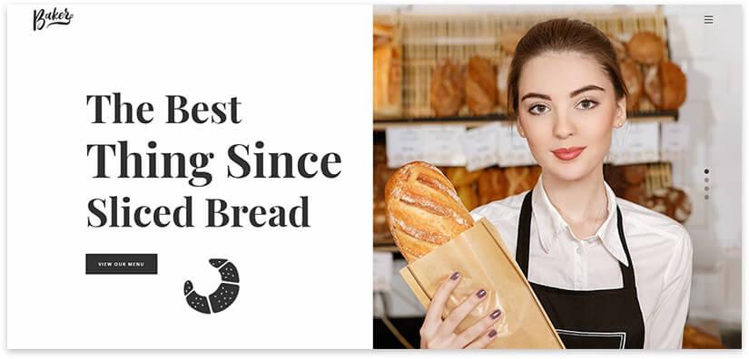 Fresh bread website template