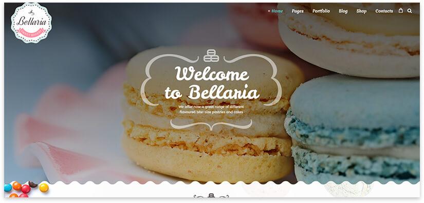 Wordpress Cakes Template