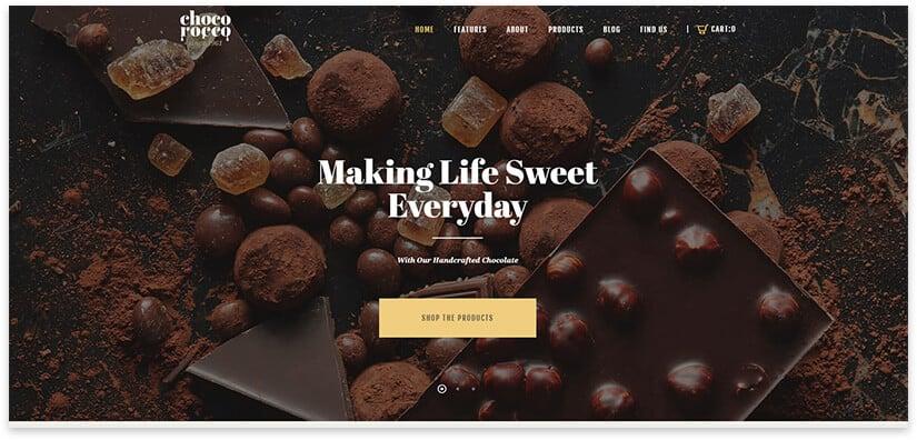 Wordpress Chocolate Template