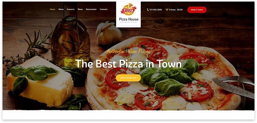 Pizza Website Template