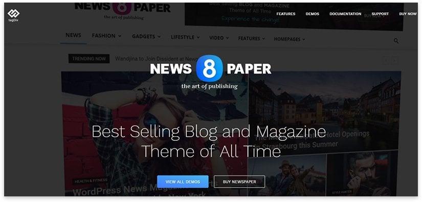 newspaper - news site on wp