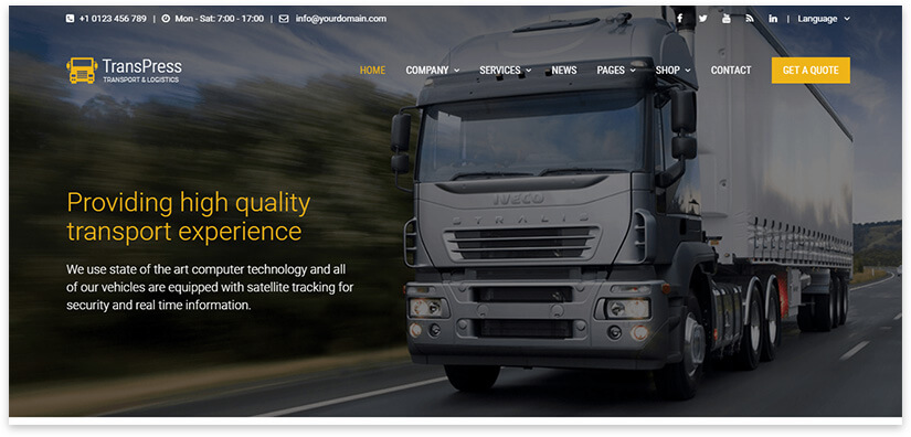 make a website on the topic of logistics