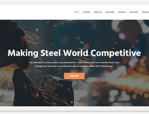 16 WordPress templates for the factory website
