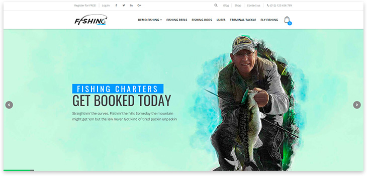 fishing shop website