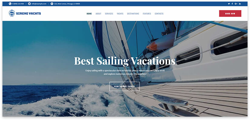 Yachting Theme Template