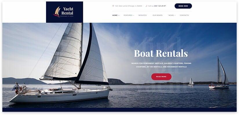 Yacht service wordpress