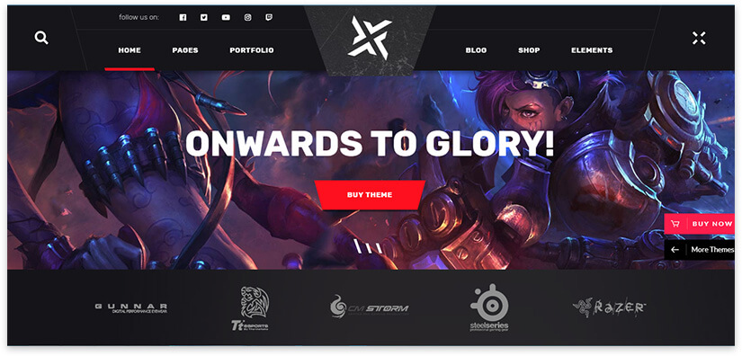 game theme for the site