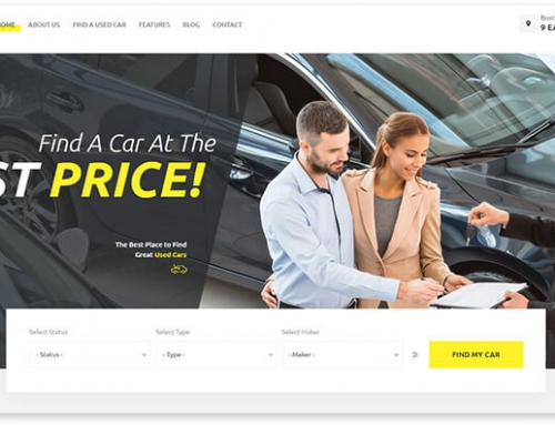 20 WordPress templates for car rental and car sale website