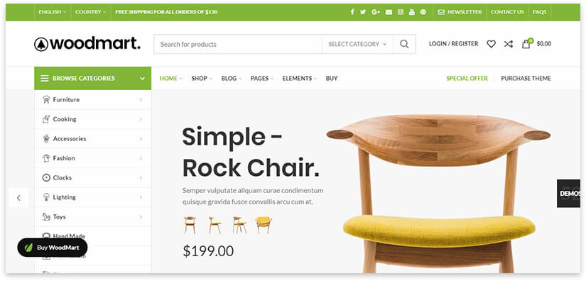 theme for furniture site