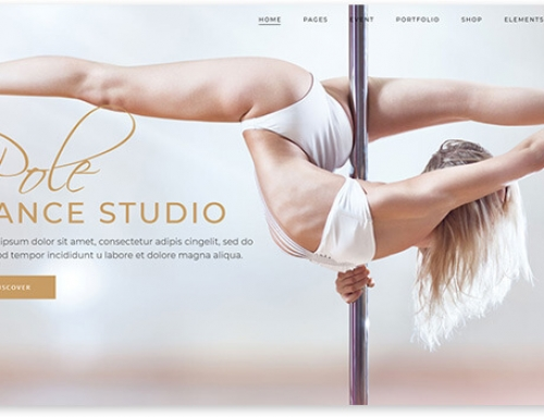 20 WordPress templates for the dance school website