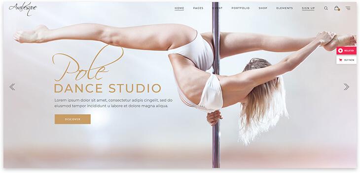 Dance Website Template