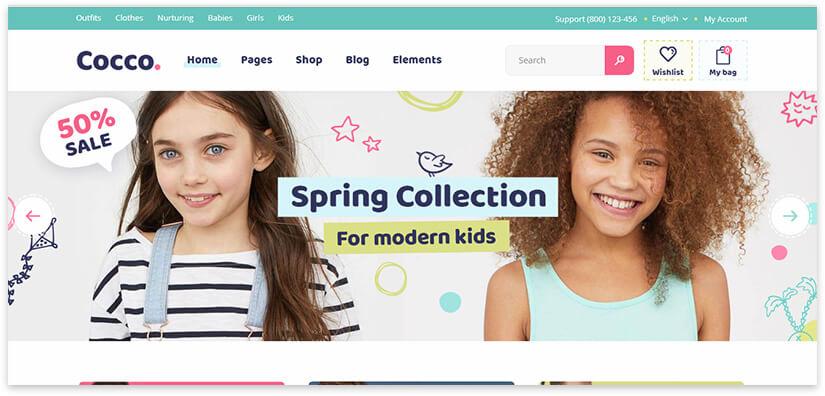 beautiful online store for children's goods