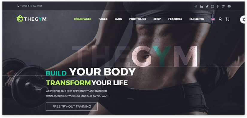 website screen for sports