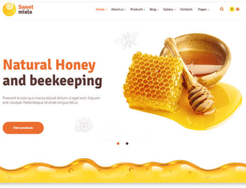 5 WordPress templates for the beekeeping & honey selling website