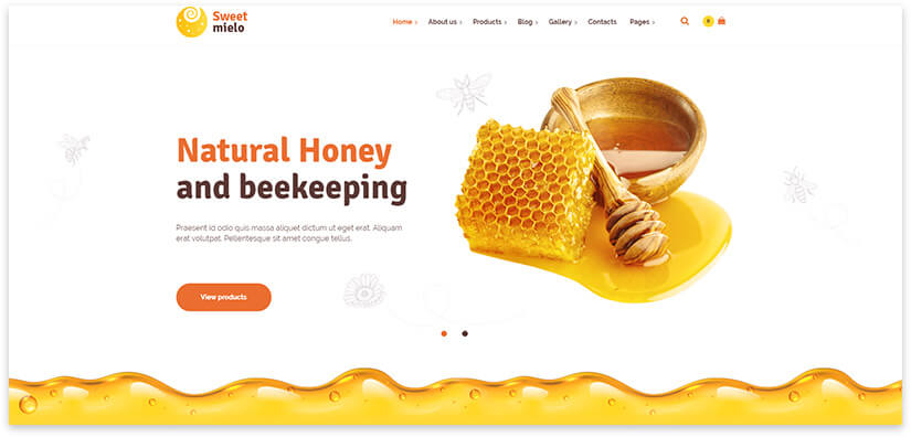 Honey Website Template