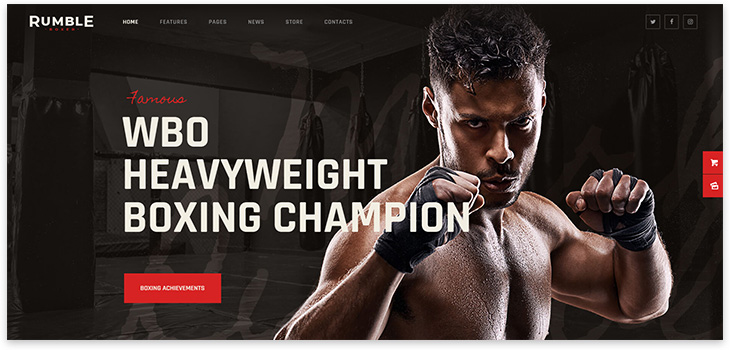 boxing school on wordpress