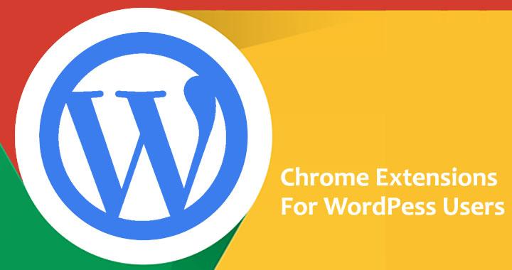 Wordpress chrome extensions