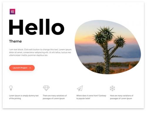 Free Hello WordPress Theme – Ideal for Elementor