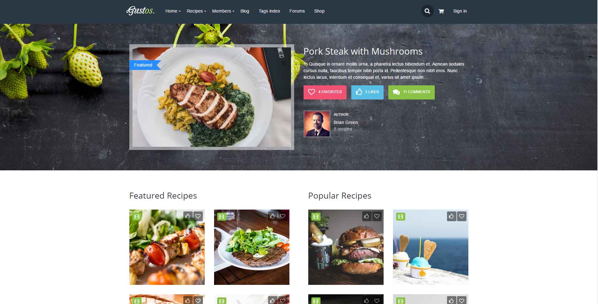 11 best food blog wordpress themes premium wordpress themes the best part of this wordpress food blog theme is user generated content of cooking recipes possibility start building a community of food lovers and forumfinder Gallery