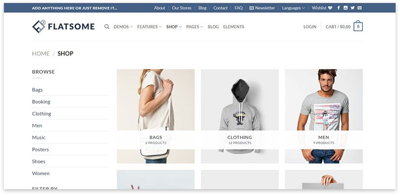 Templates for online store on wordpress