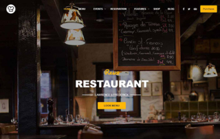 restaurant premium wordpress theme