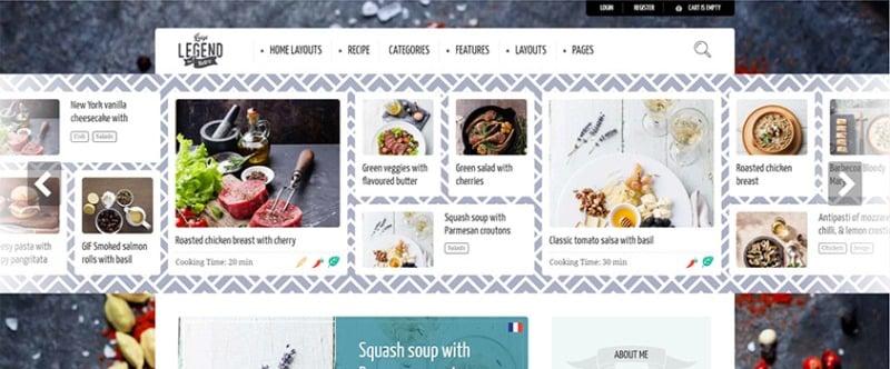 food blog and recipes wordpress template