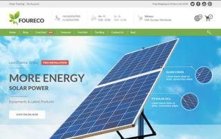 solar panels wordpress template